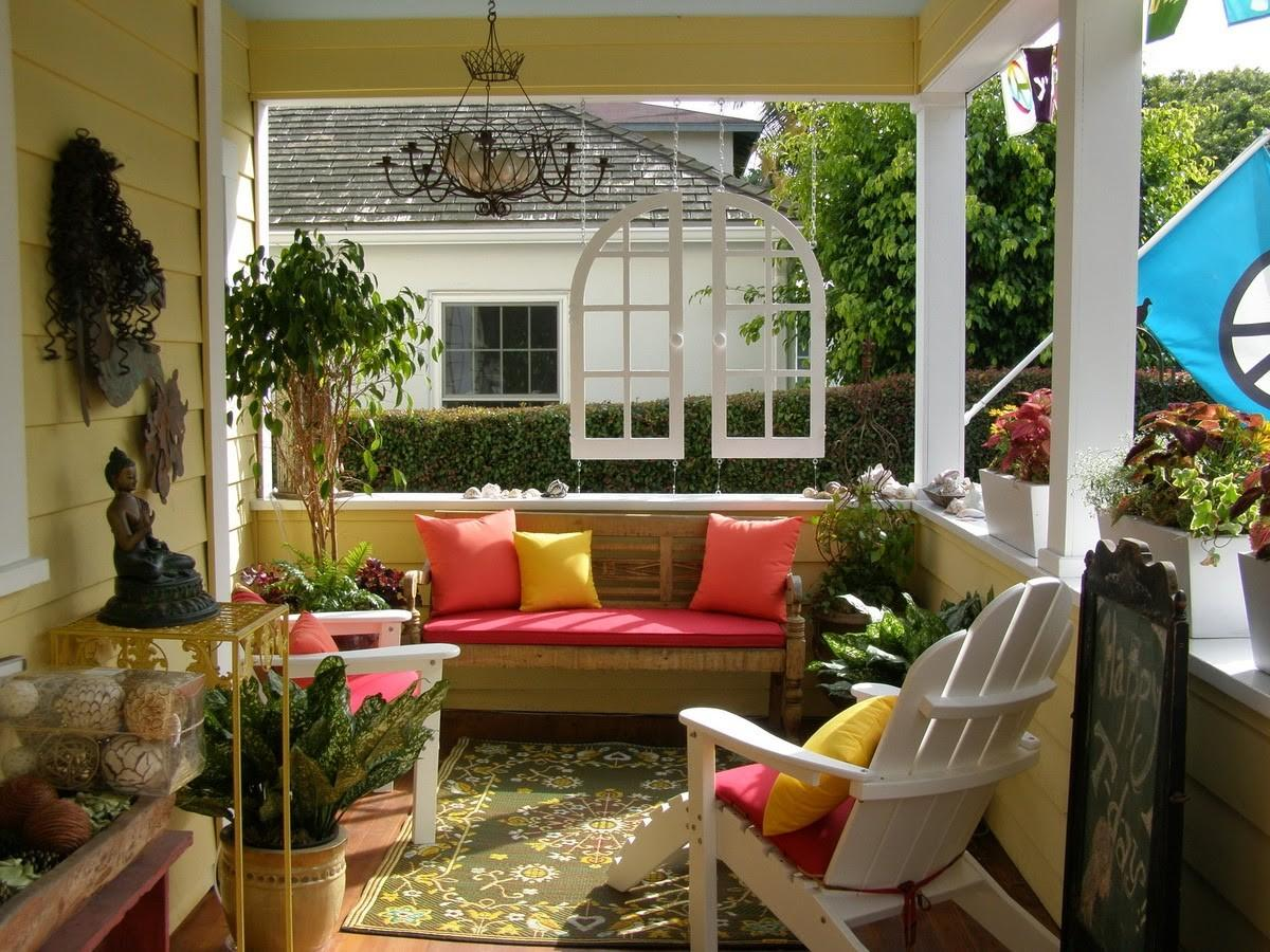 Some Furniture Front Porch Decorating Ideas Home Design