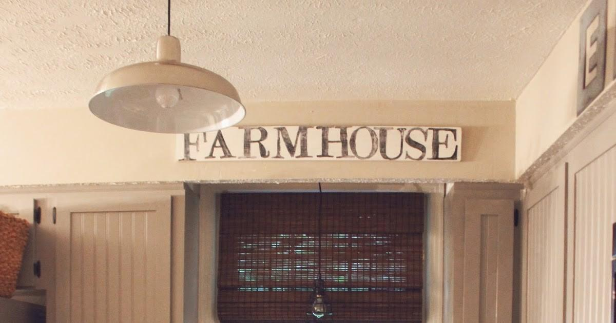 Some Kind Wonderful Diy Farmhouse Distressed Wood Sign