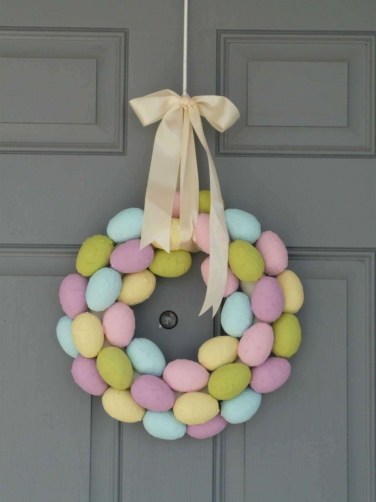 Something Wonderful Paper Mache Easter Egg Wreath
