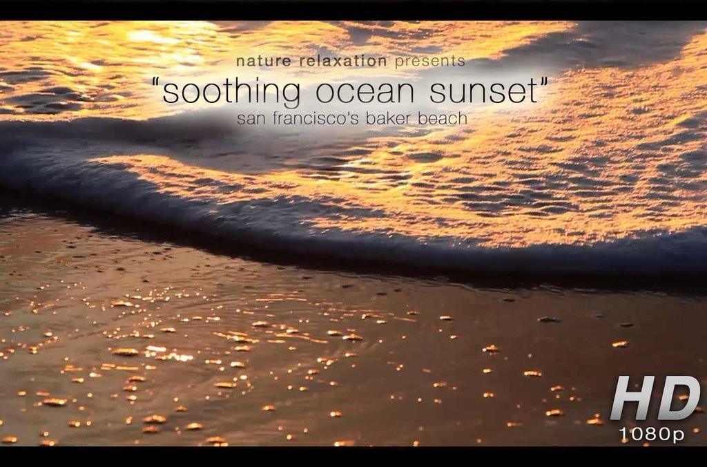 Soothing Ocean Sunset Healing Minute Nature