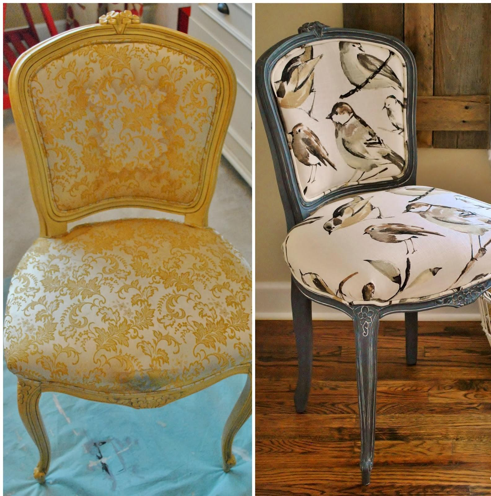 Sophia French Chair Reupholstery Makeover Tutorial