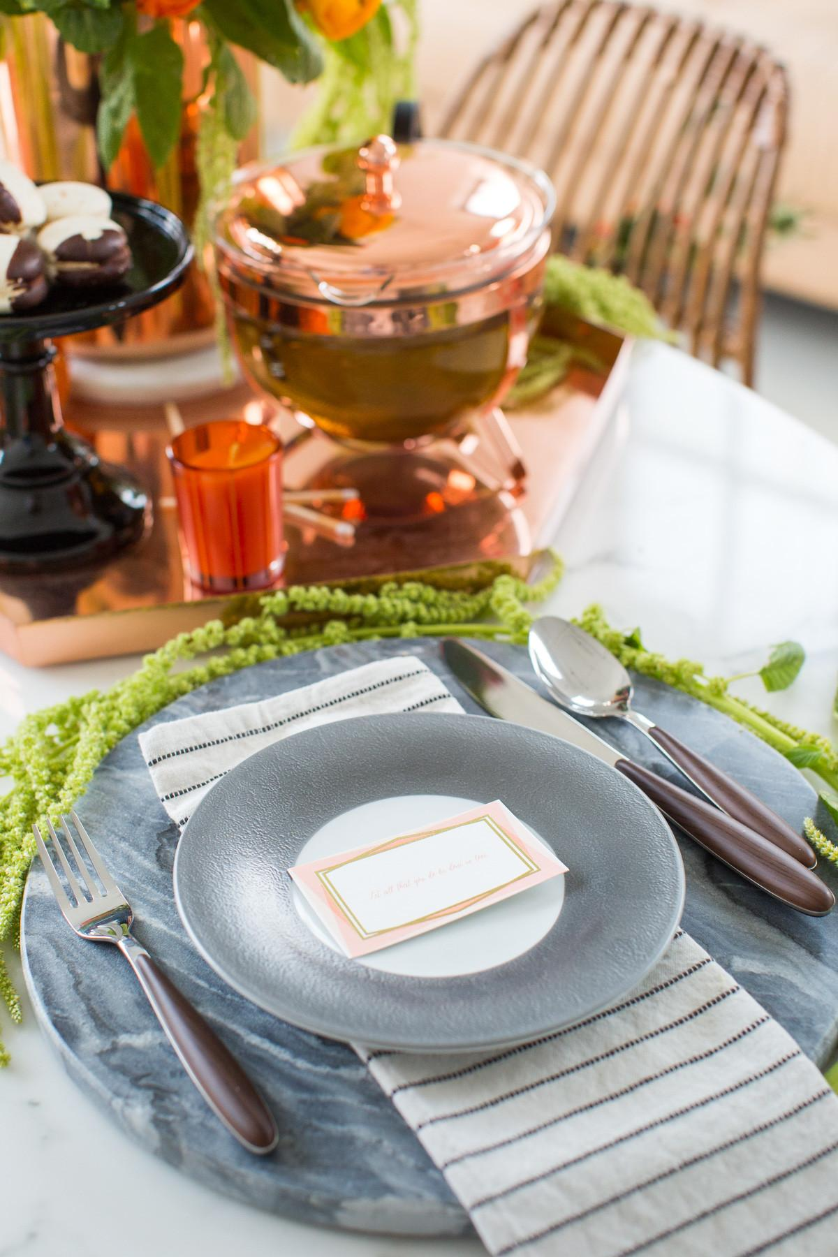 Sophisticated Halloween Dinner Table Setting Sugar Cloth