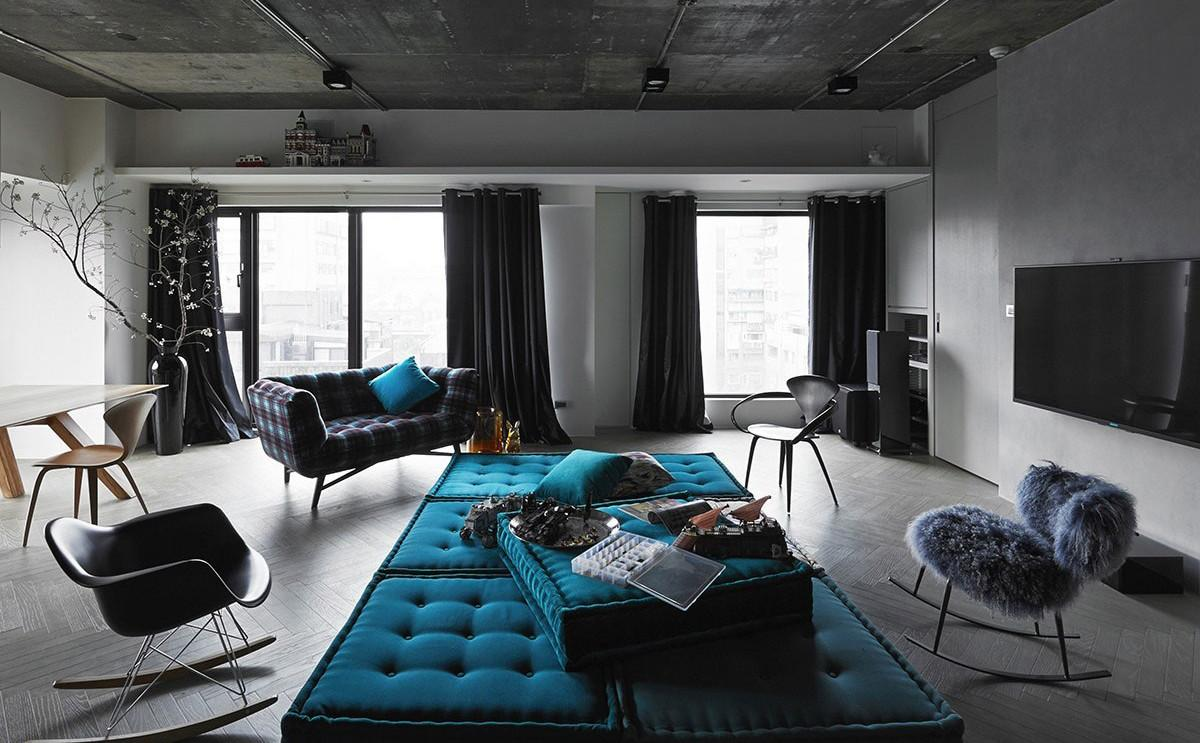 Sophisticated Industrial Style Apartment Taipei
