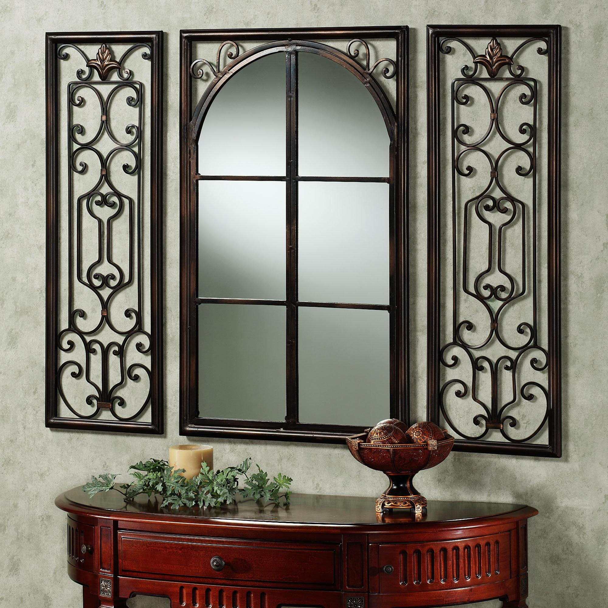 Sophisticated Iron Graphic Wall Mirrors Frames