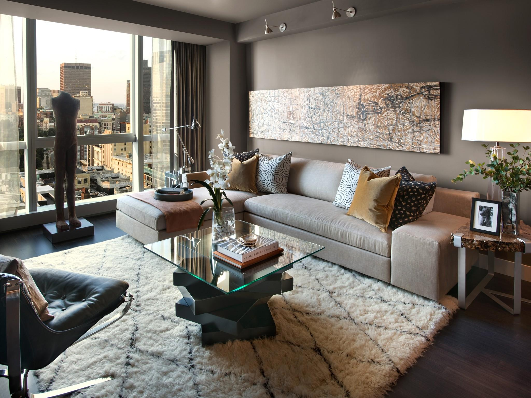 Sophisticated Urban Living Room Photos