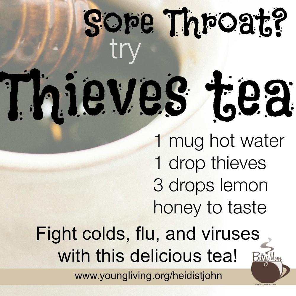 Sore Throat Try Essential Oil Tea Author Speaker