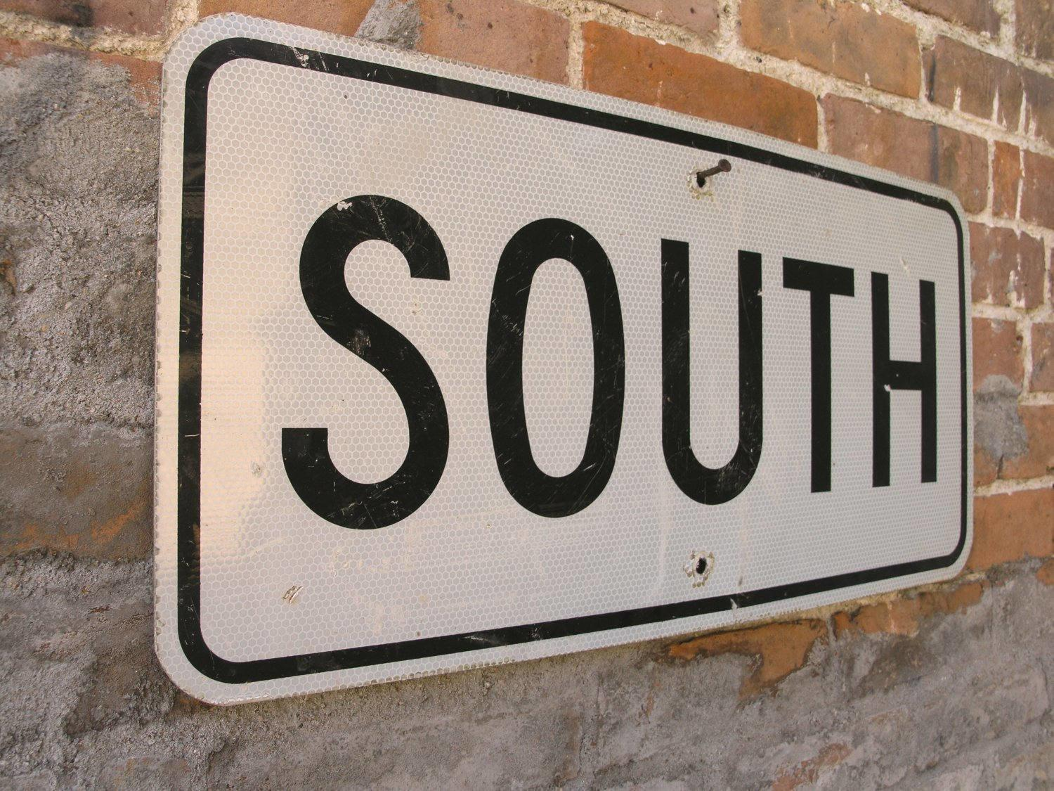 South Sign Metal Road Country Decor Street Traffic
