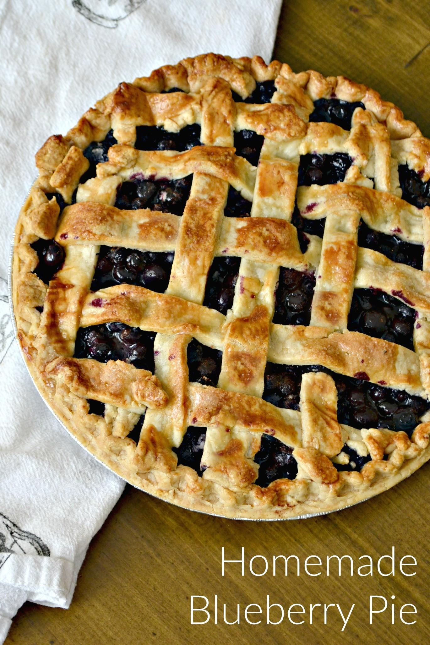 Southern Living Blueberry Pie 2014