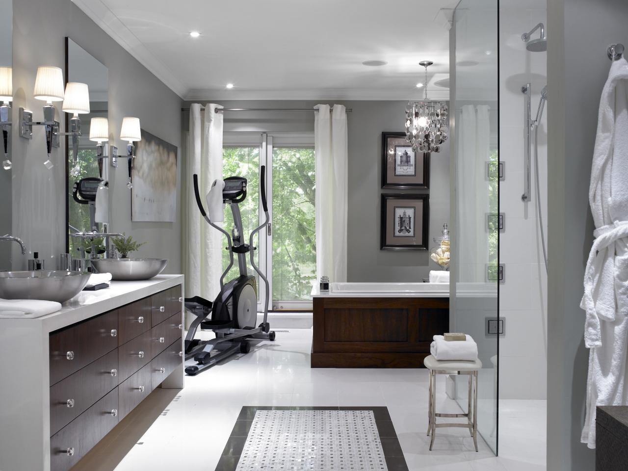 Spa Master Bathroom Home Gym