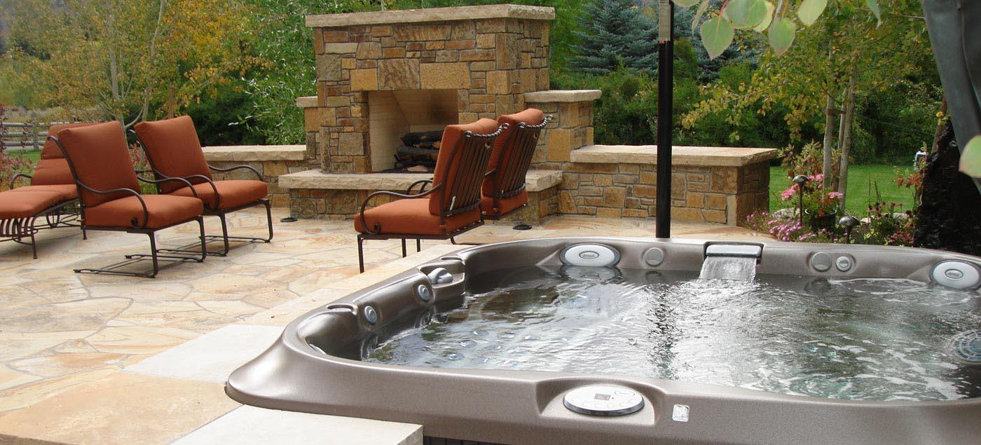 Spa Outdoor Hot Tub Backyard Design Ideas