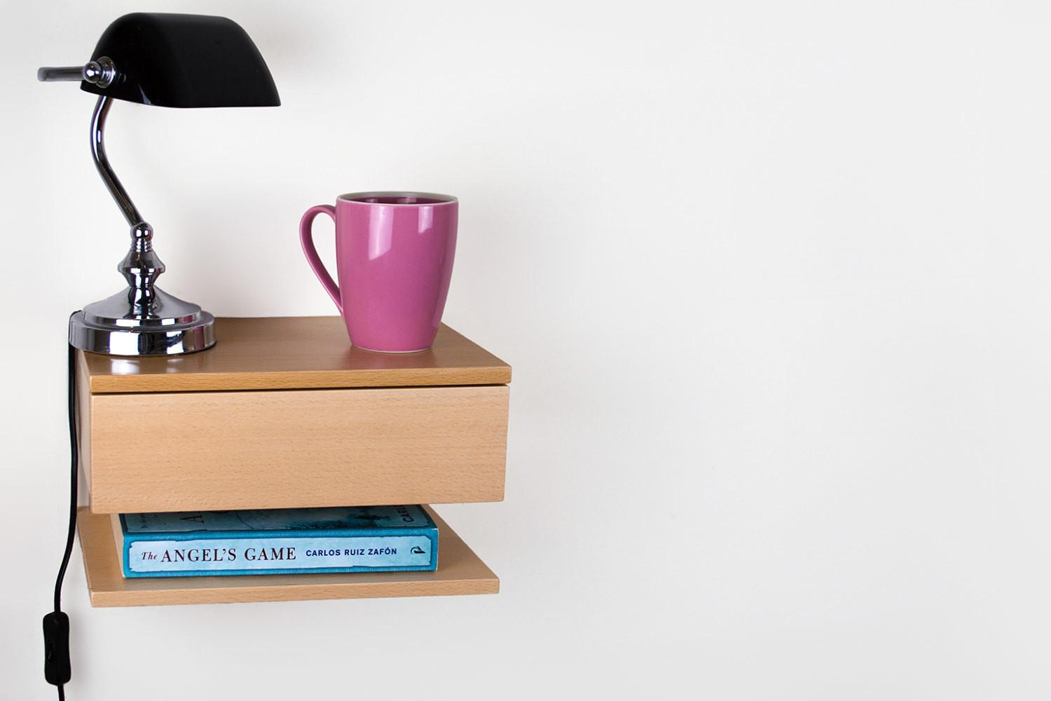 Space Saving Floating Bedside Table Adorable Home