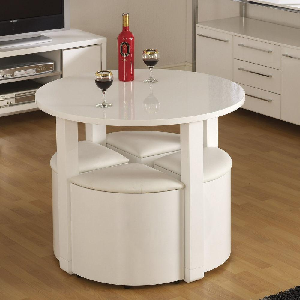 Space Saving Small Breakfast White Rustic Dining Kitchen
