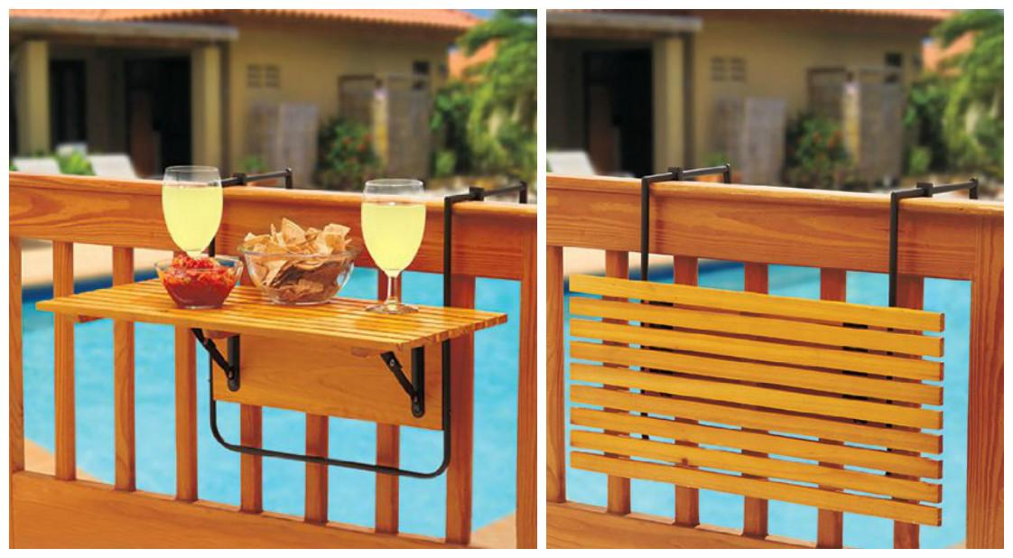Space Saving Table Small Balconies Home Designing