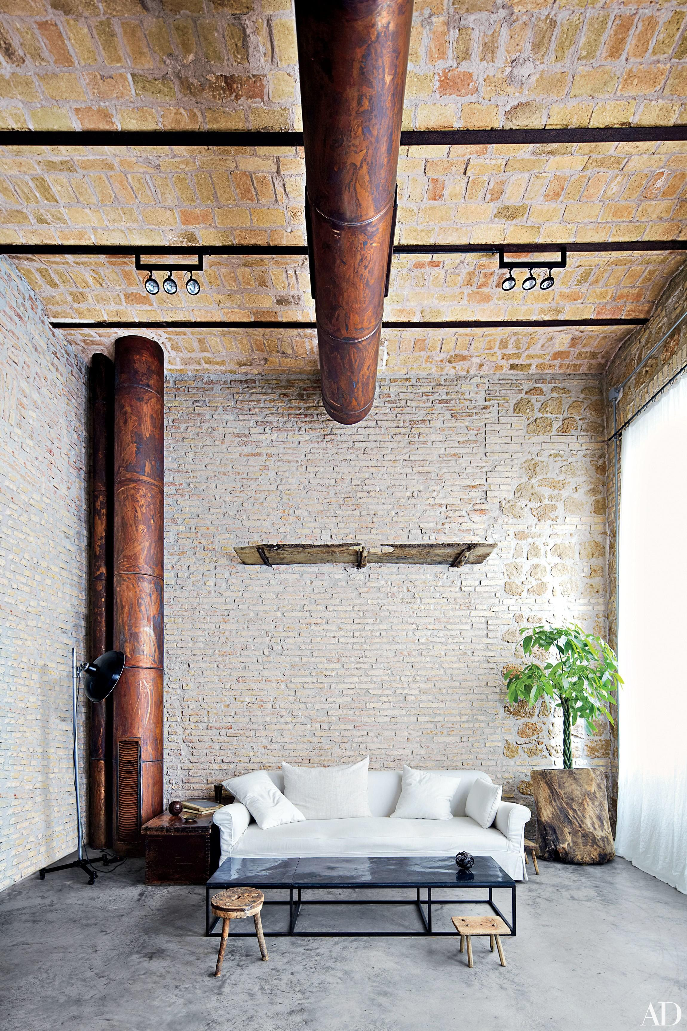 Spaces Charming Exposed Brick Walls Photos