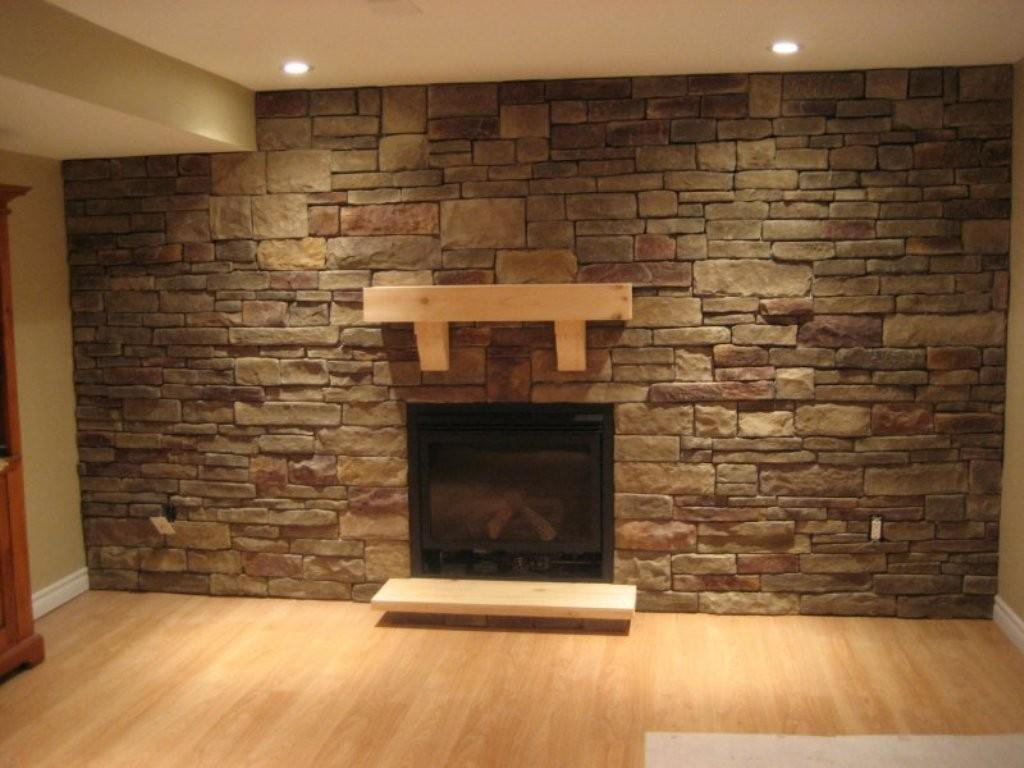 Spacious Space Decorated Awesome Stone Wall