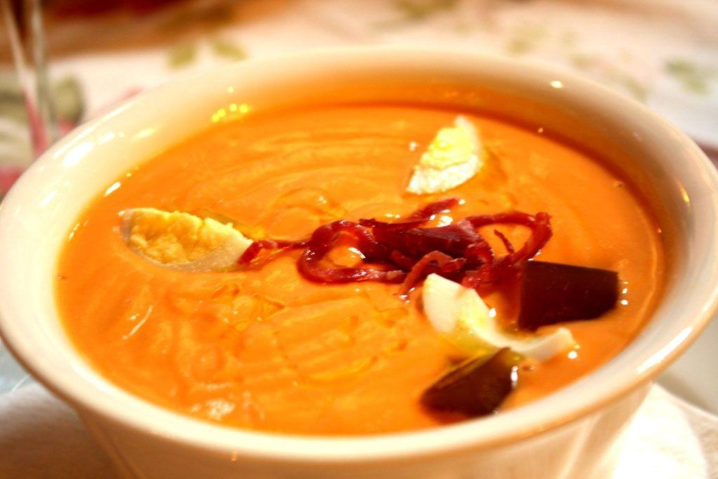 Spanish Cold Tomato Soup Salmorejo Cordobes Recipe