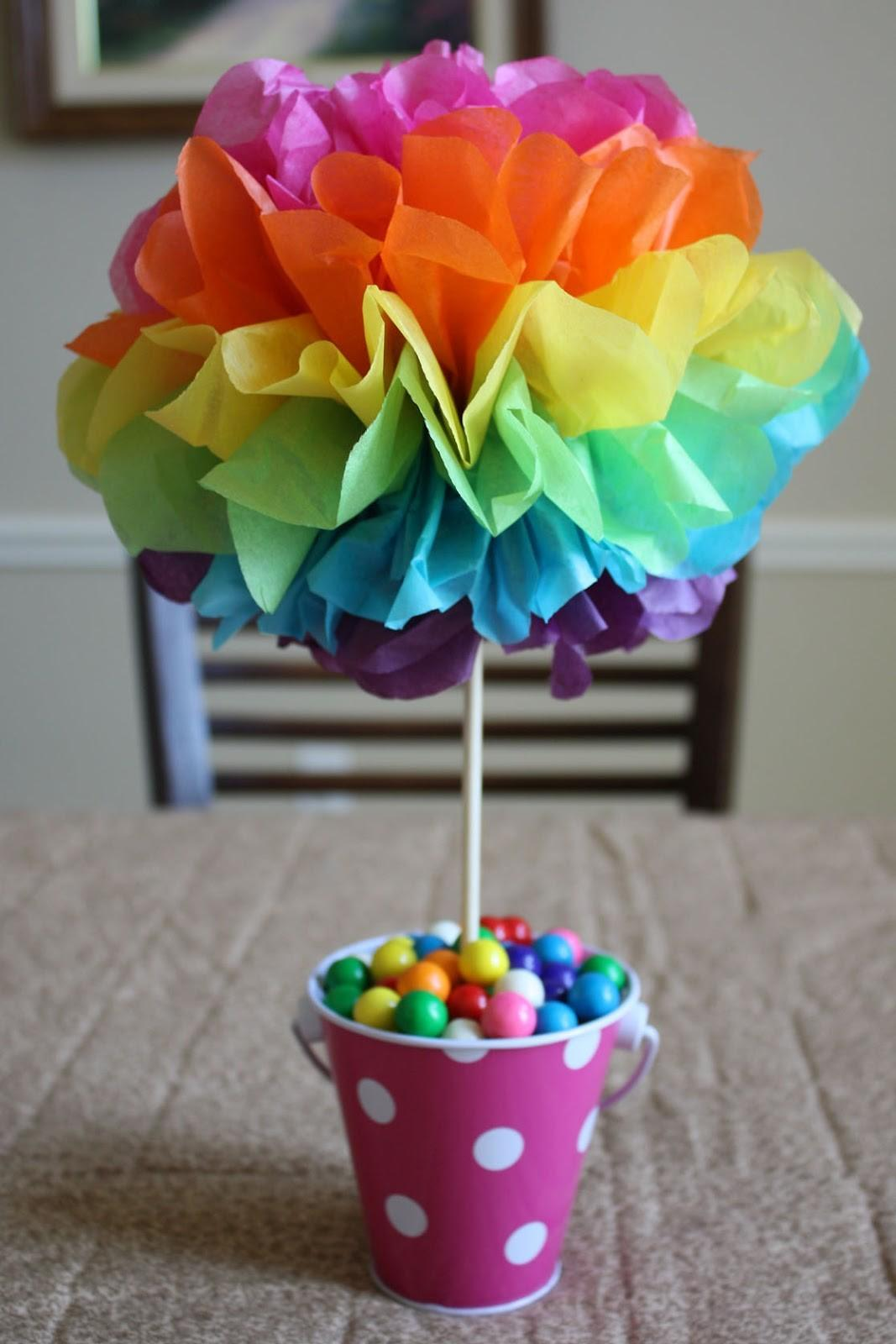 Spare Time Craft Tissue Paper Pom Poms