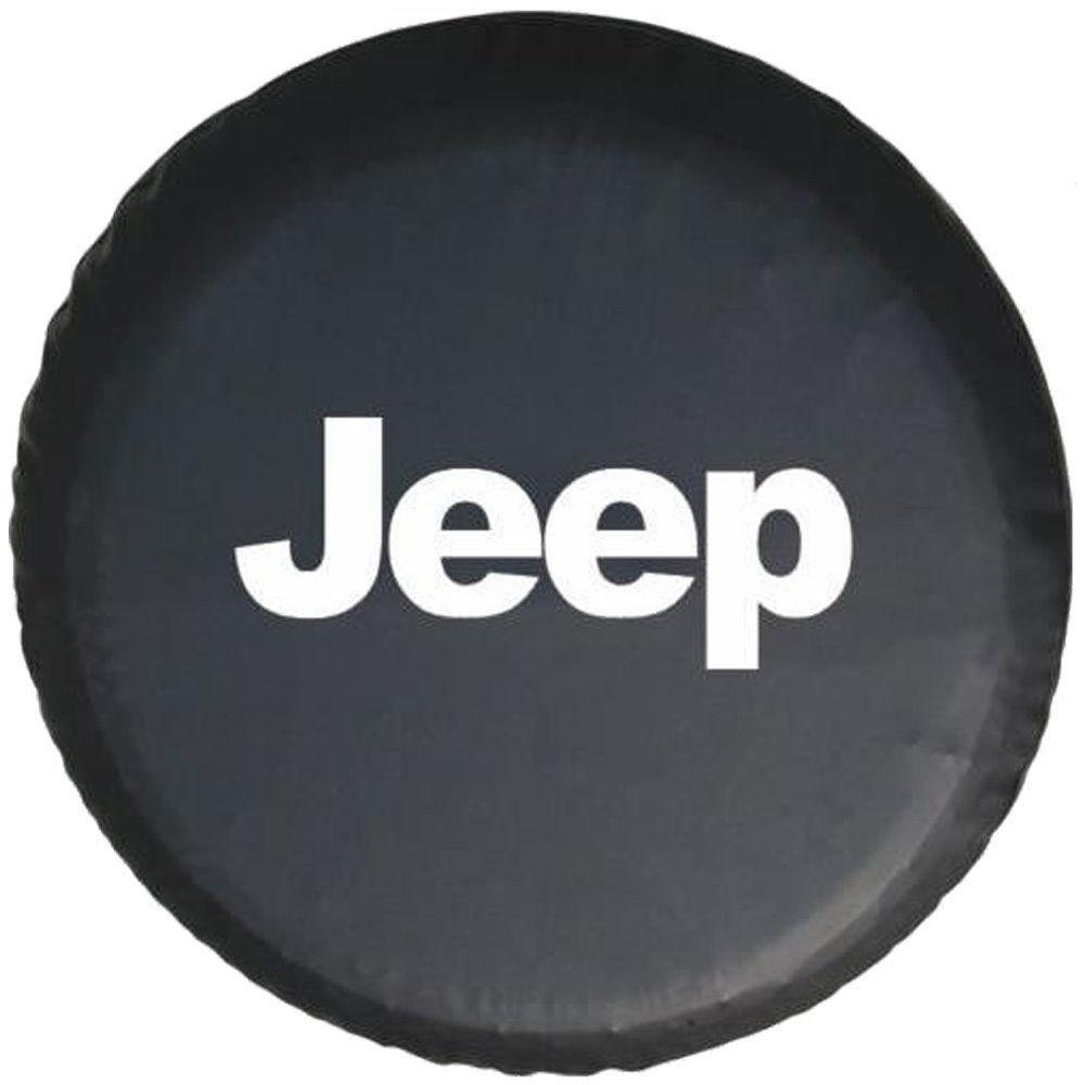 Spare Wheel Tire Cover Black Denim Vinyl Inch