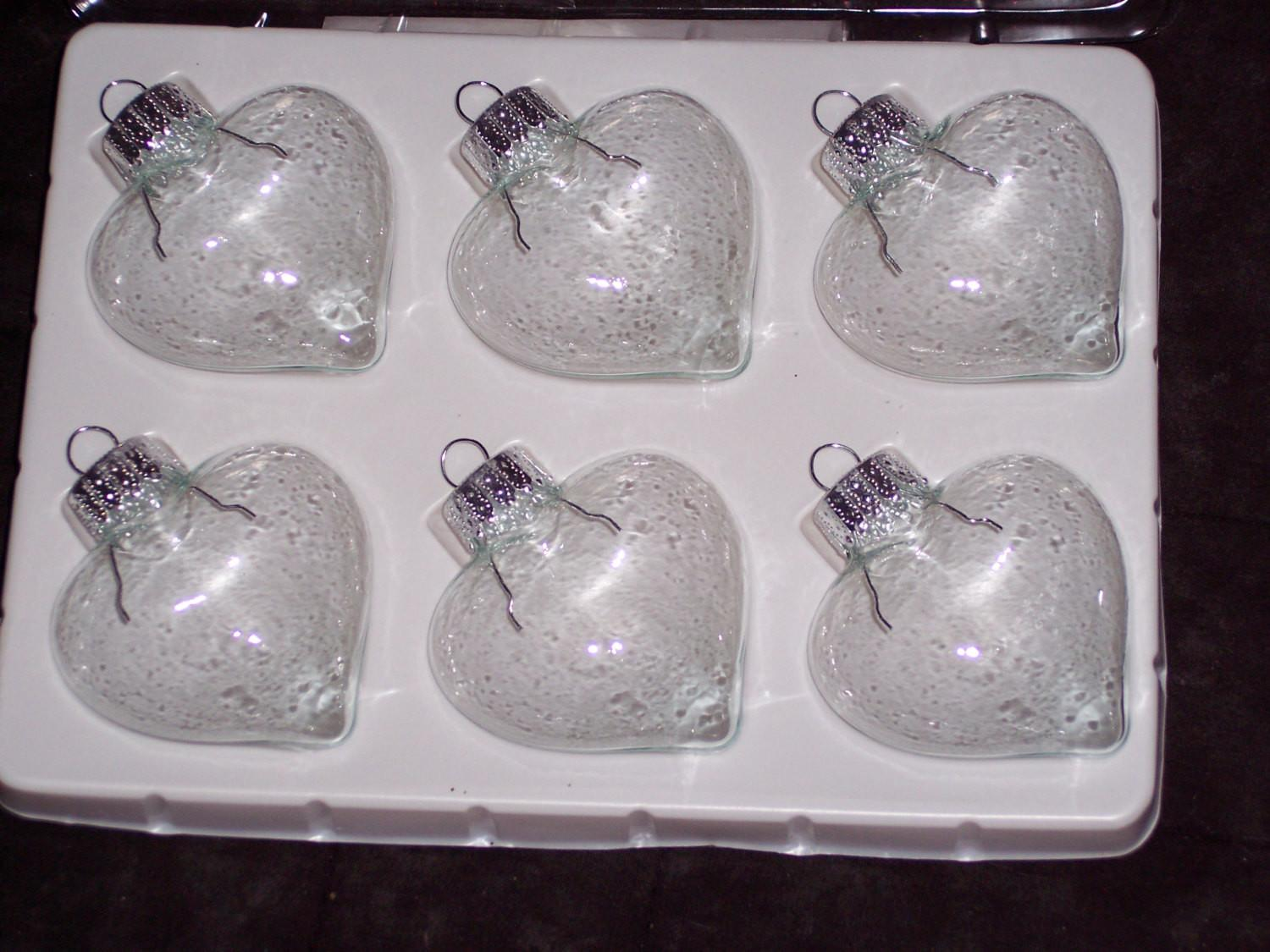 Special Julieclear Glass Heart Shaped Ornament