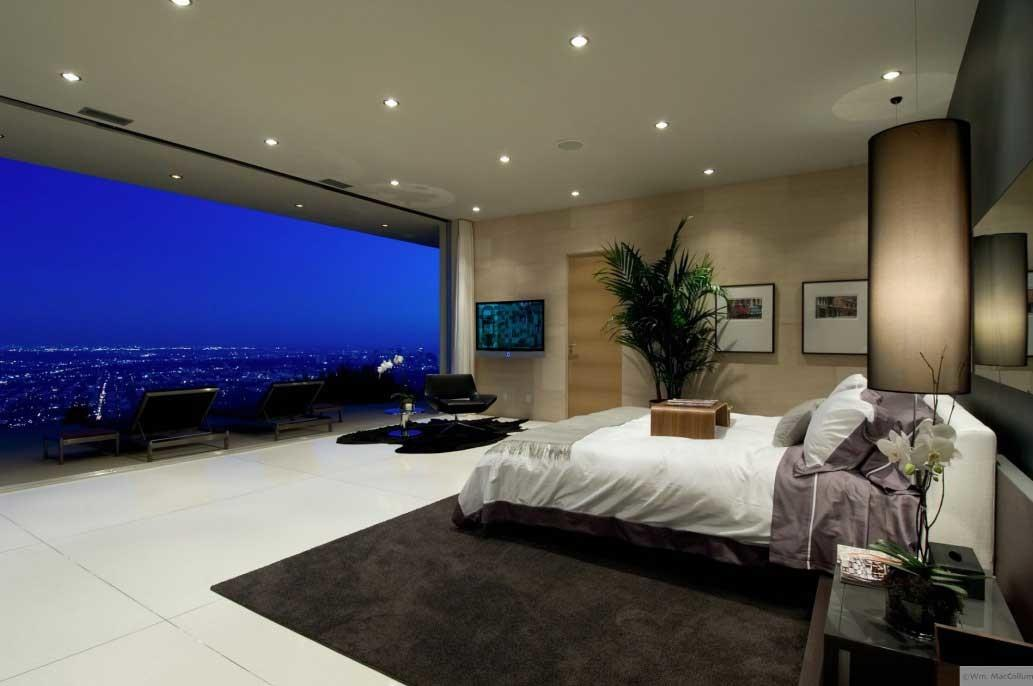 Spectacular Bedroom City Night Interior