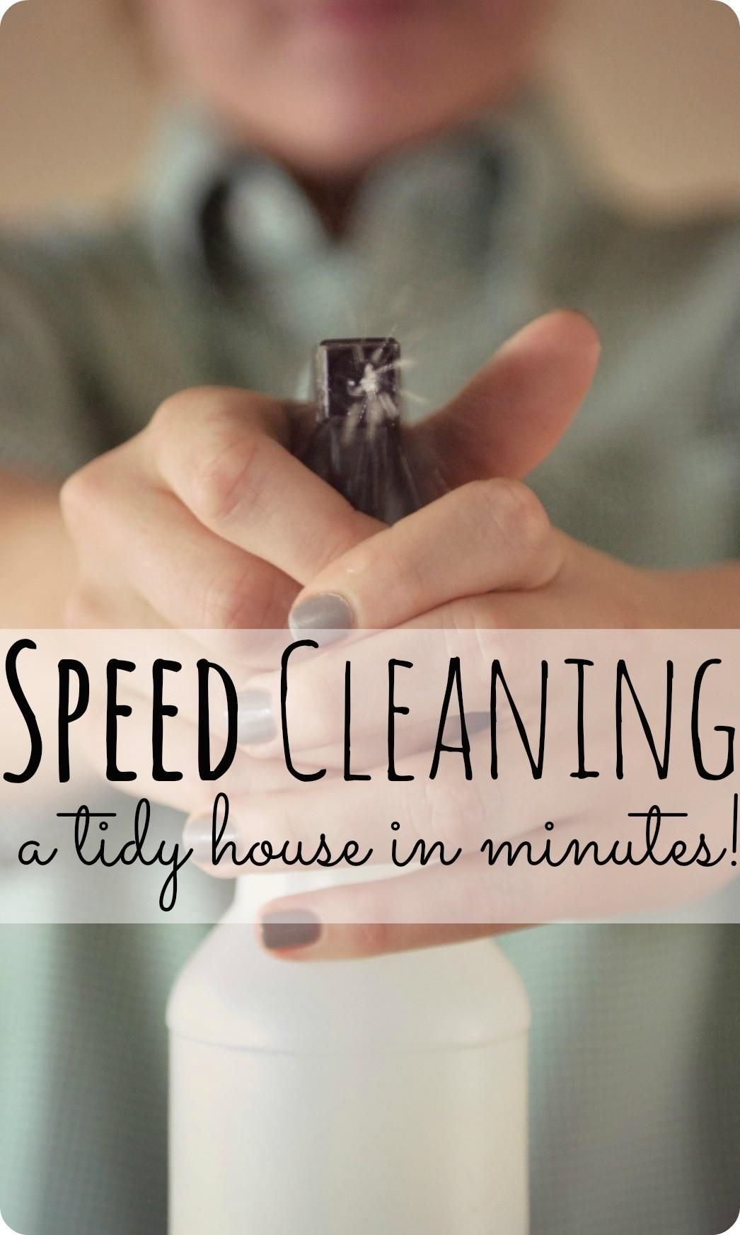 Speed Cleaning House Minutes Thifty Sue