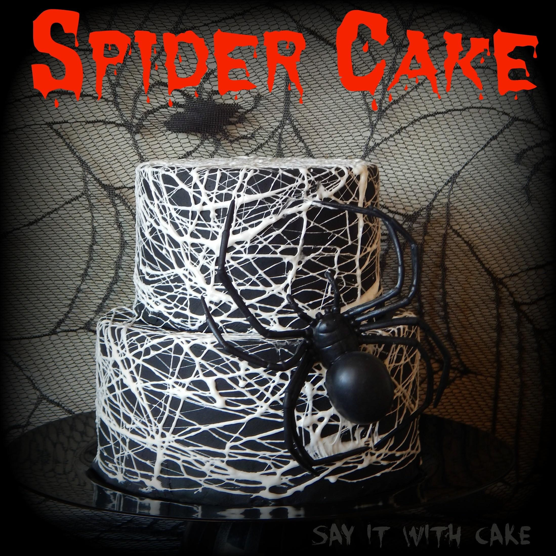 Spider Web Cake Say