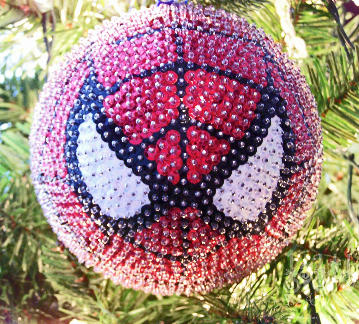 Spiderman Sequined Christmas Ornament Thejollyfatelf