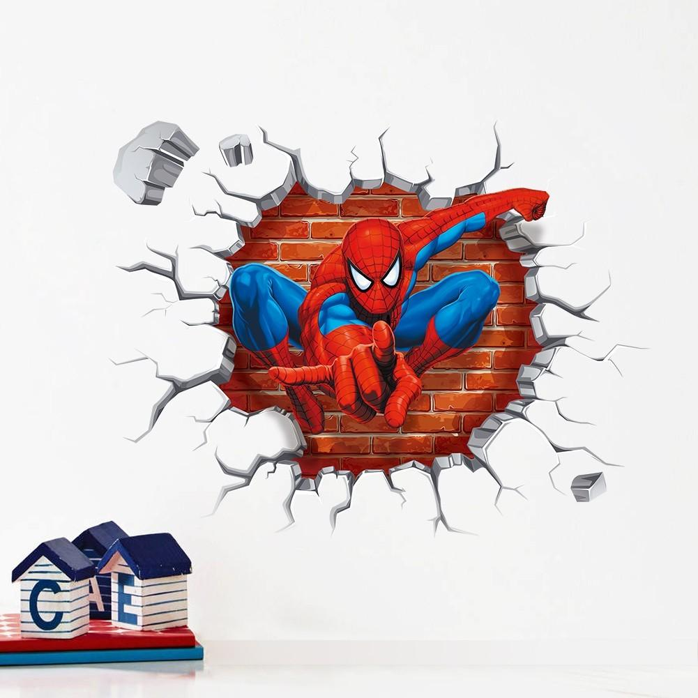 Spiderman Wall Stickers Kids Rooms Decals Home