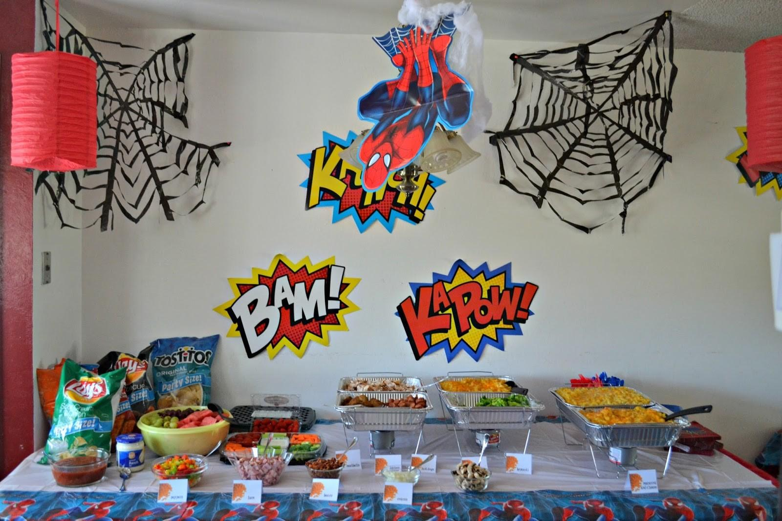 Spidery Spider Man Birthday Party Building Our Story