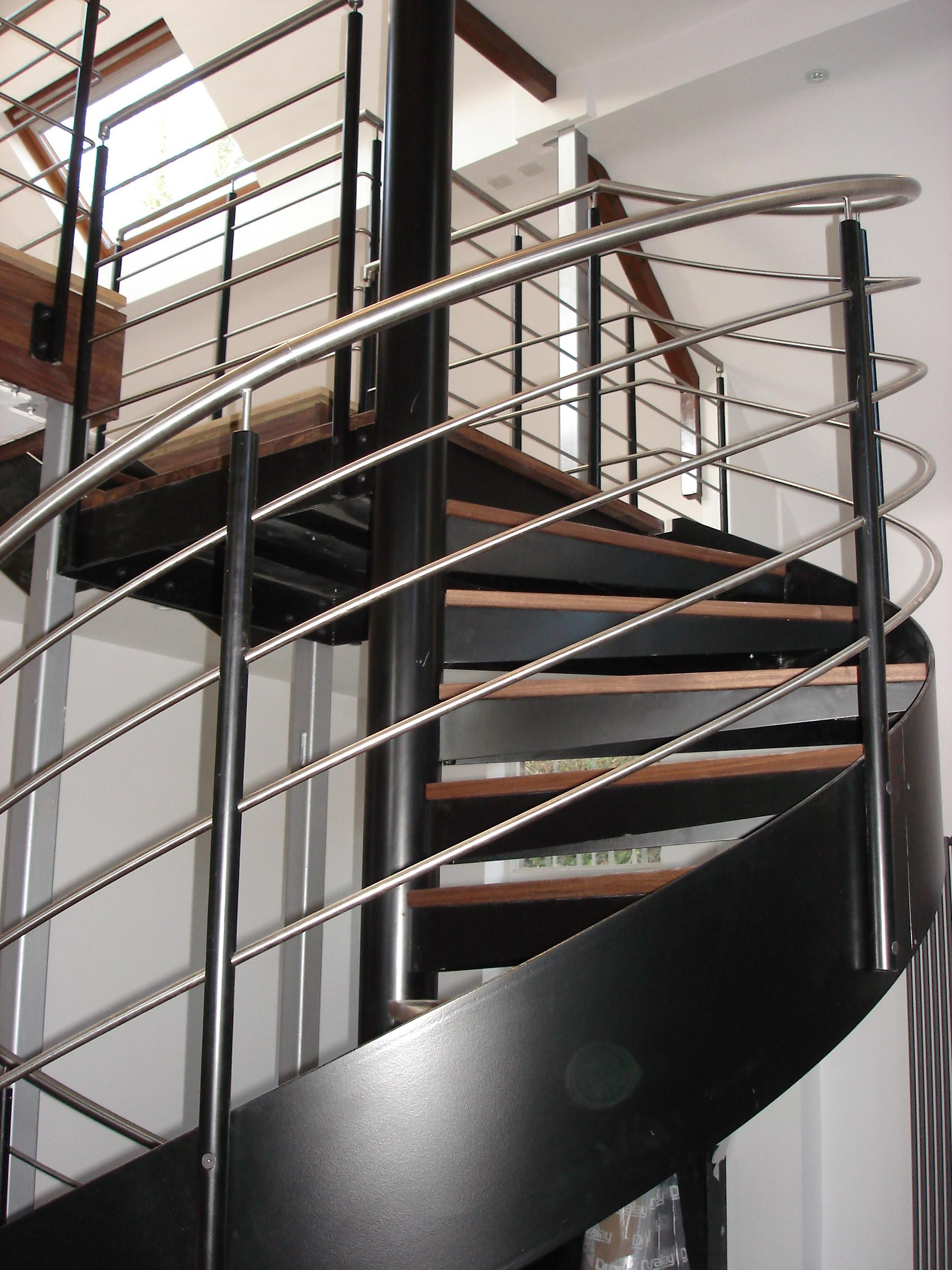 Spiral Staircase Stainless Steel Balustrade