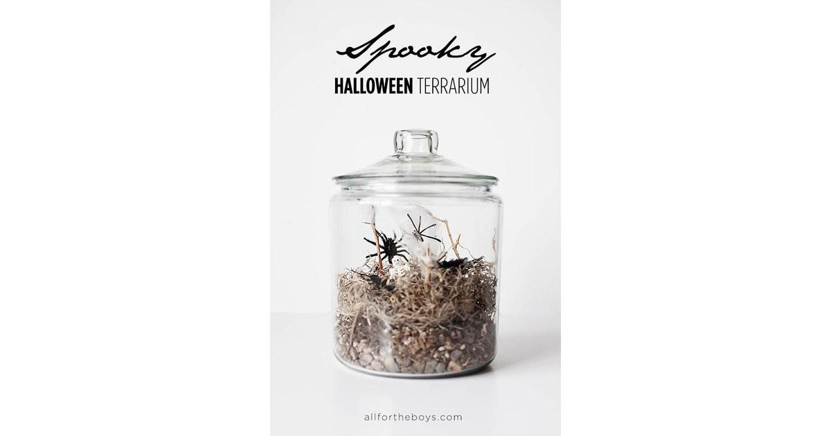 Spooky Halloween Terrarium Decorating Ideas