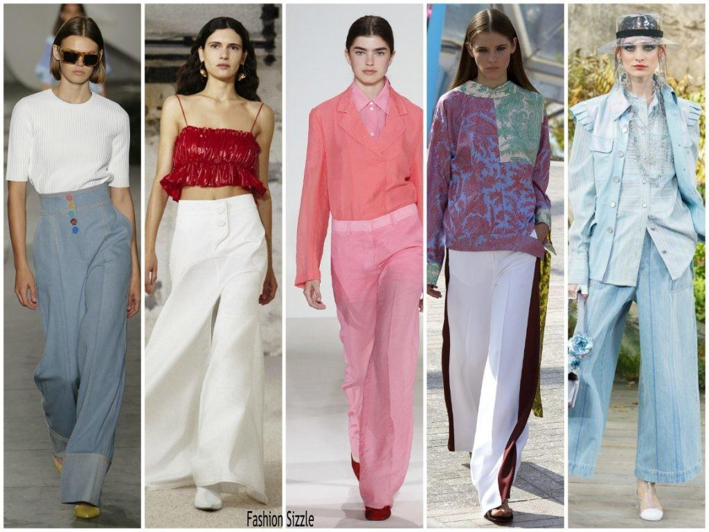 Spring 2018 Runway Fashion Trend Flared Pants