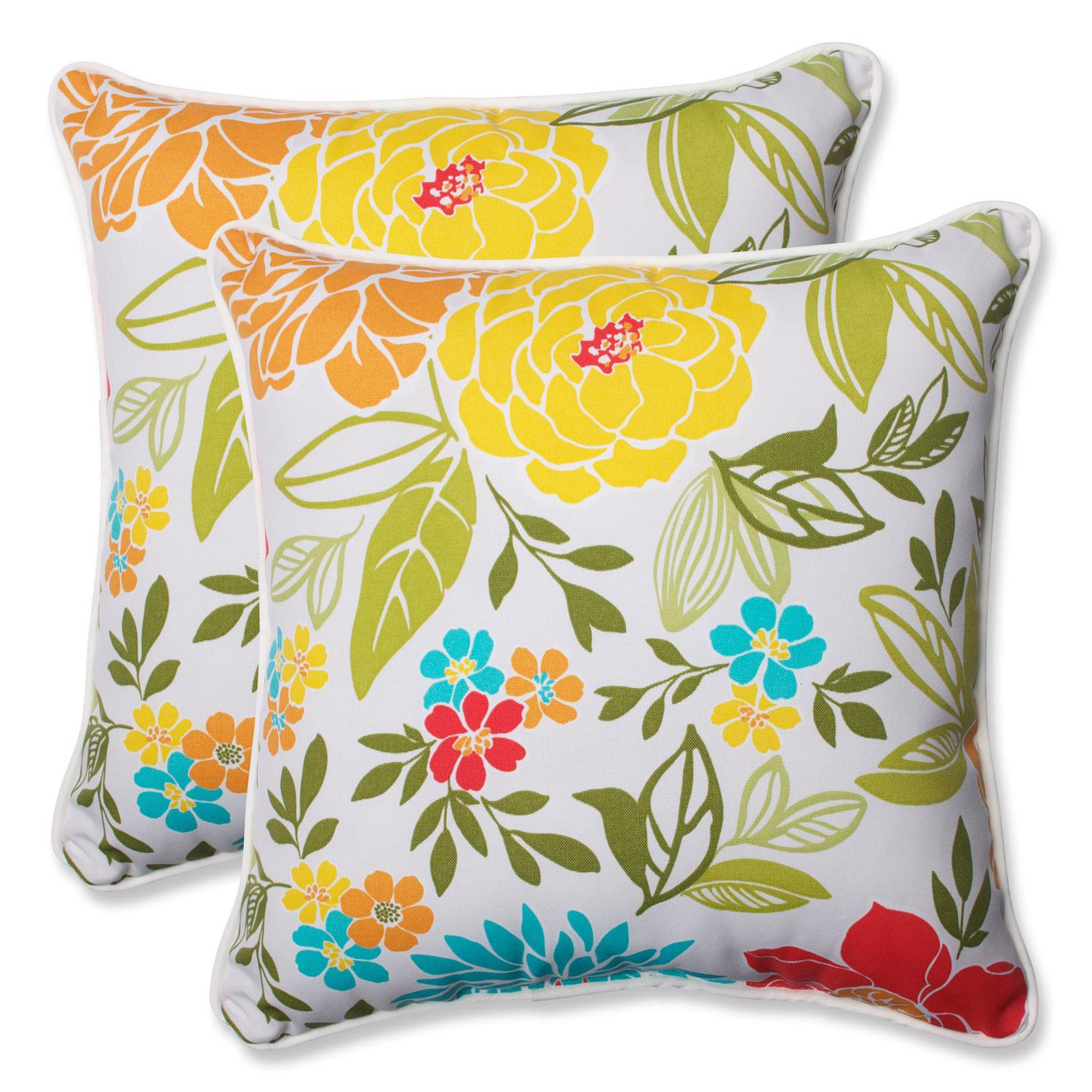 Spring Bling Multicolor Inch Outdoor Throw Pillow