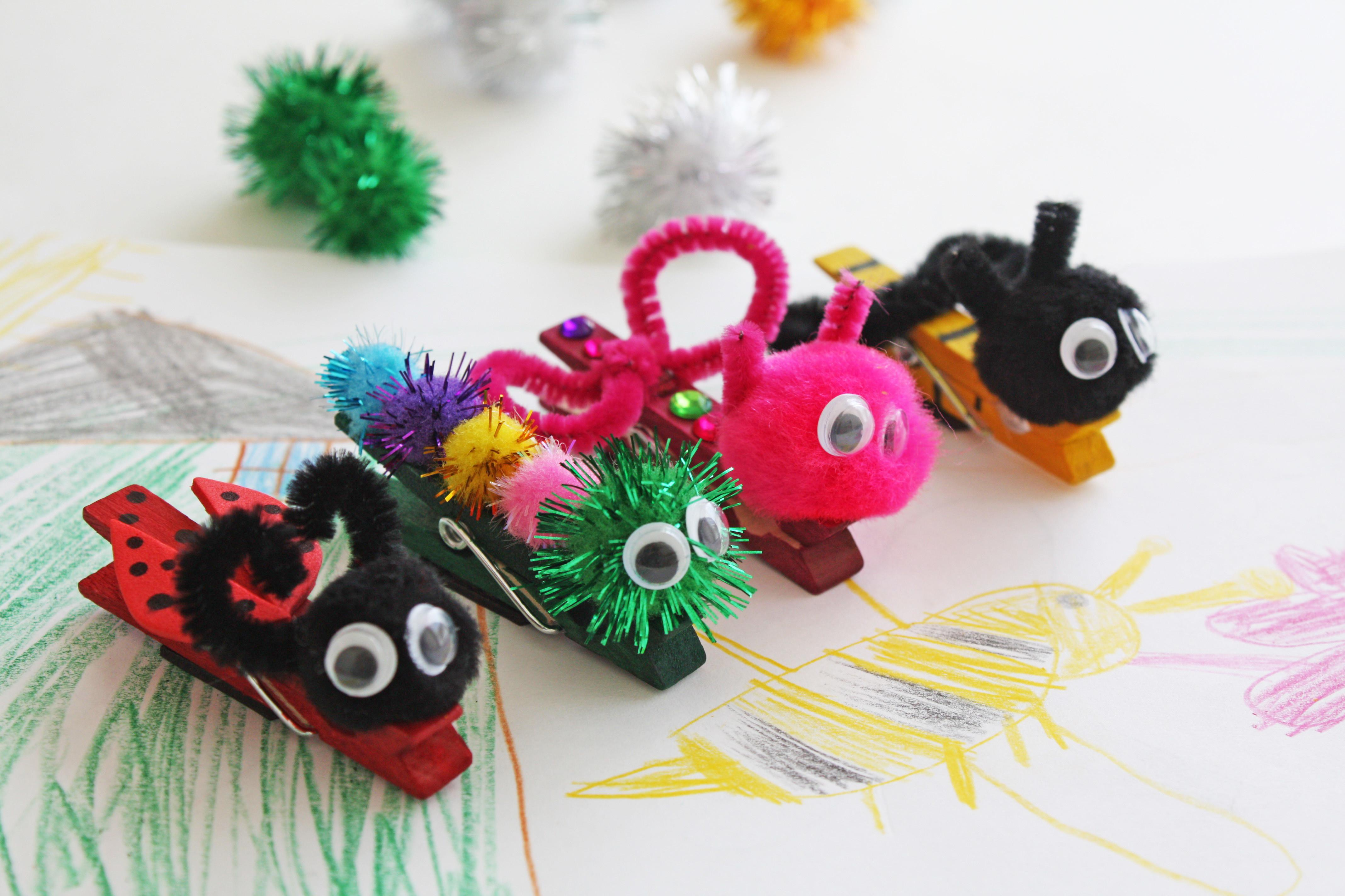 Spring Bug Clothespin Magnets