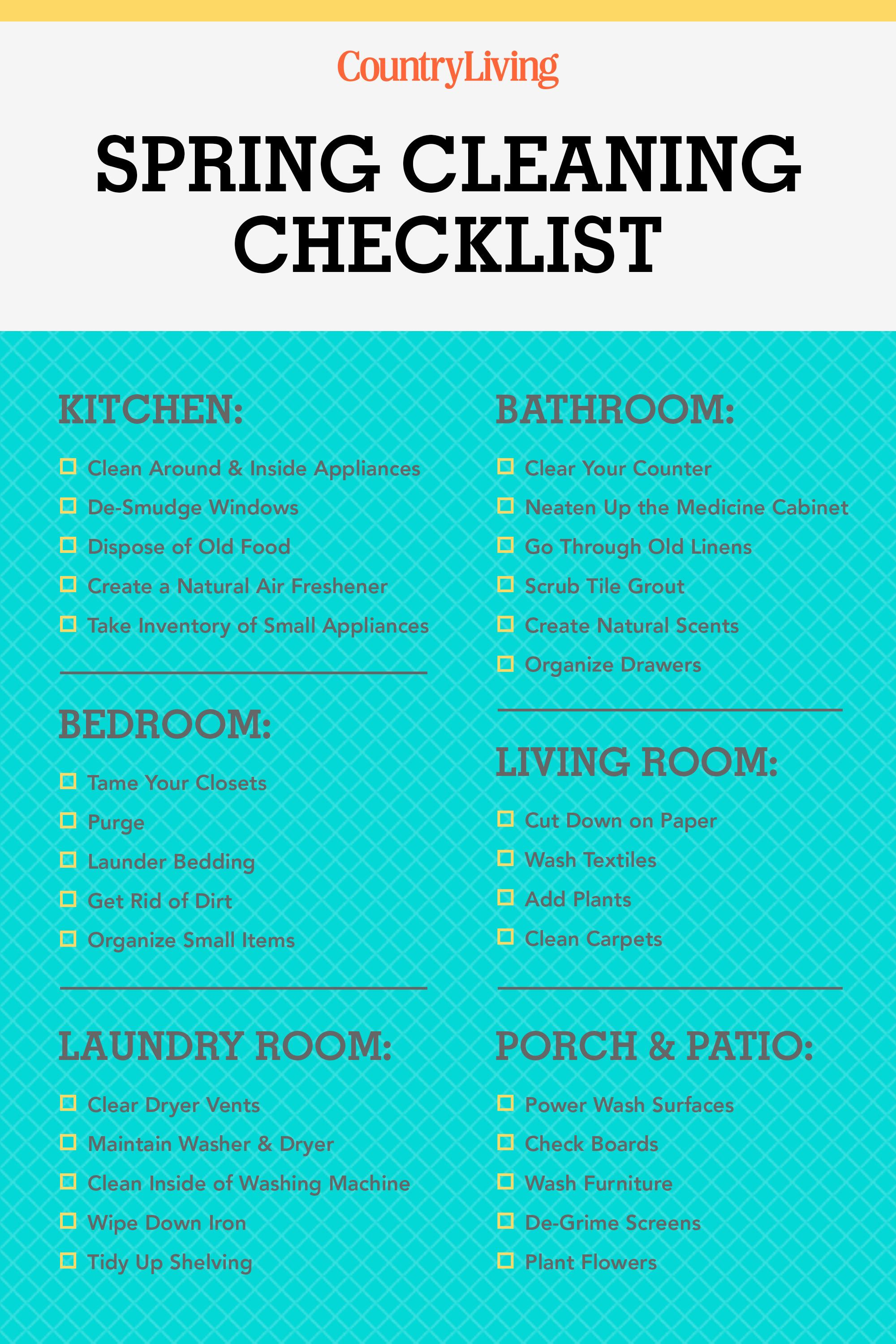 Spring Cleaning Checklist Tips Clean