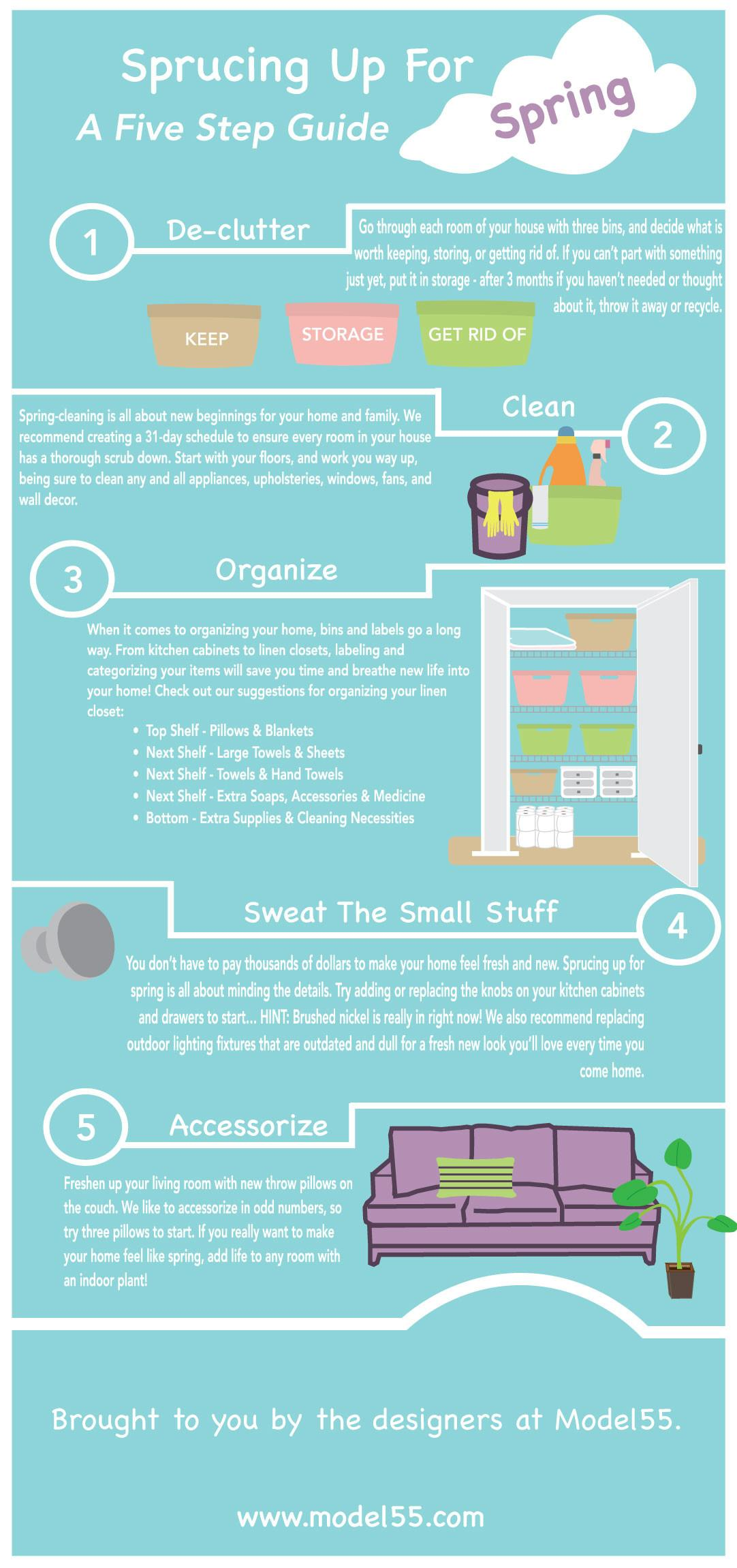 Spring Cleaning Tips Model55