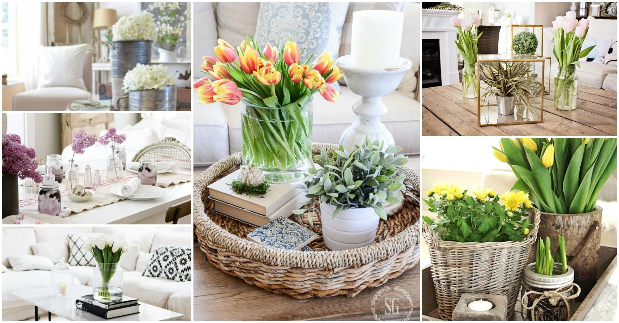 Spring Coffee Table Decor See They Did