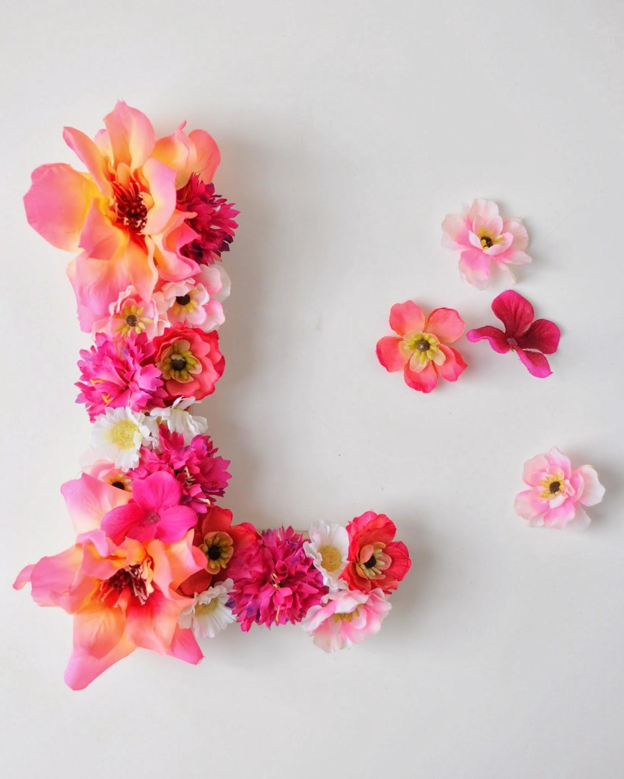 Spring Craft Diy Floral Monogram