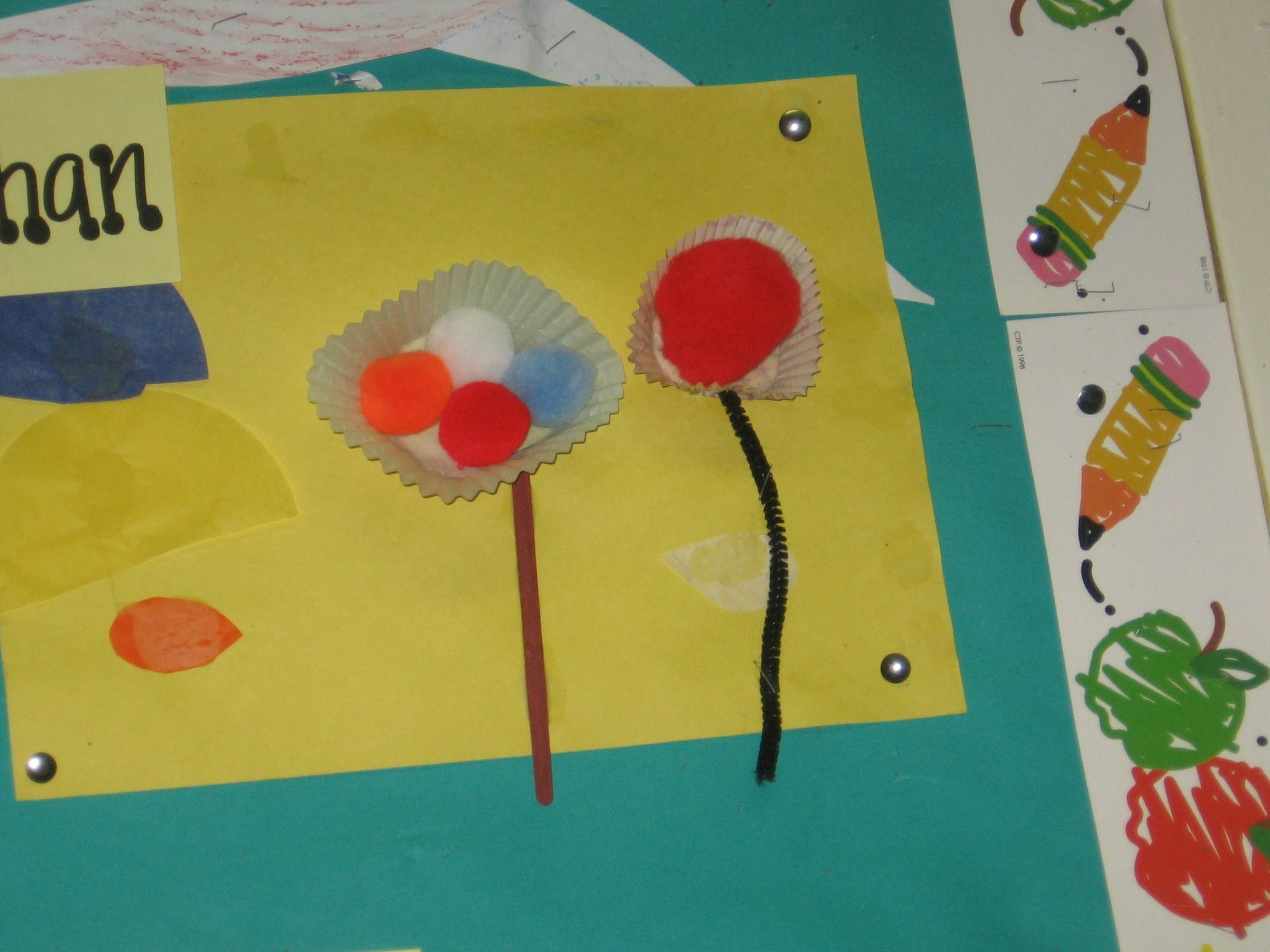 Spring Crafts Preschoolers Flower Collages More