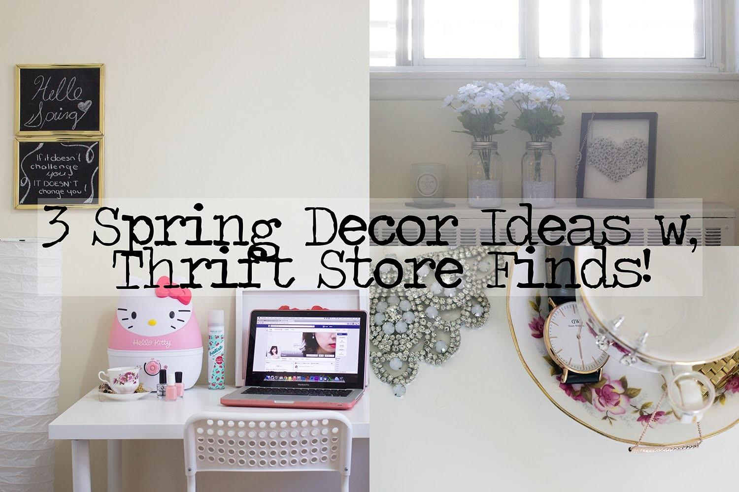 Spring Decor Ideas Thrift Store Finds
