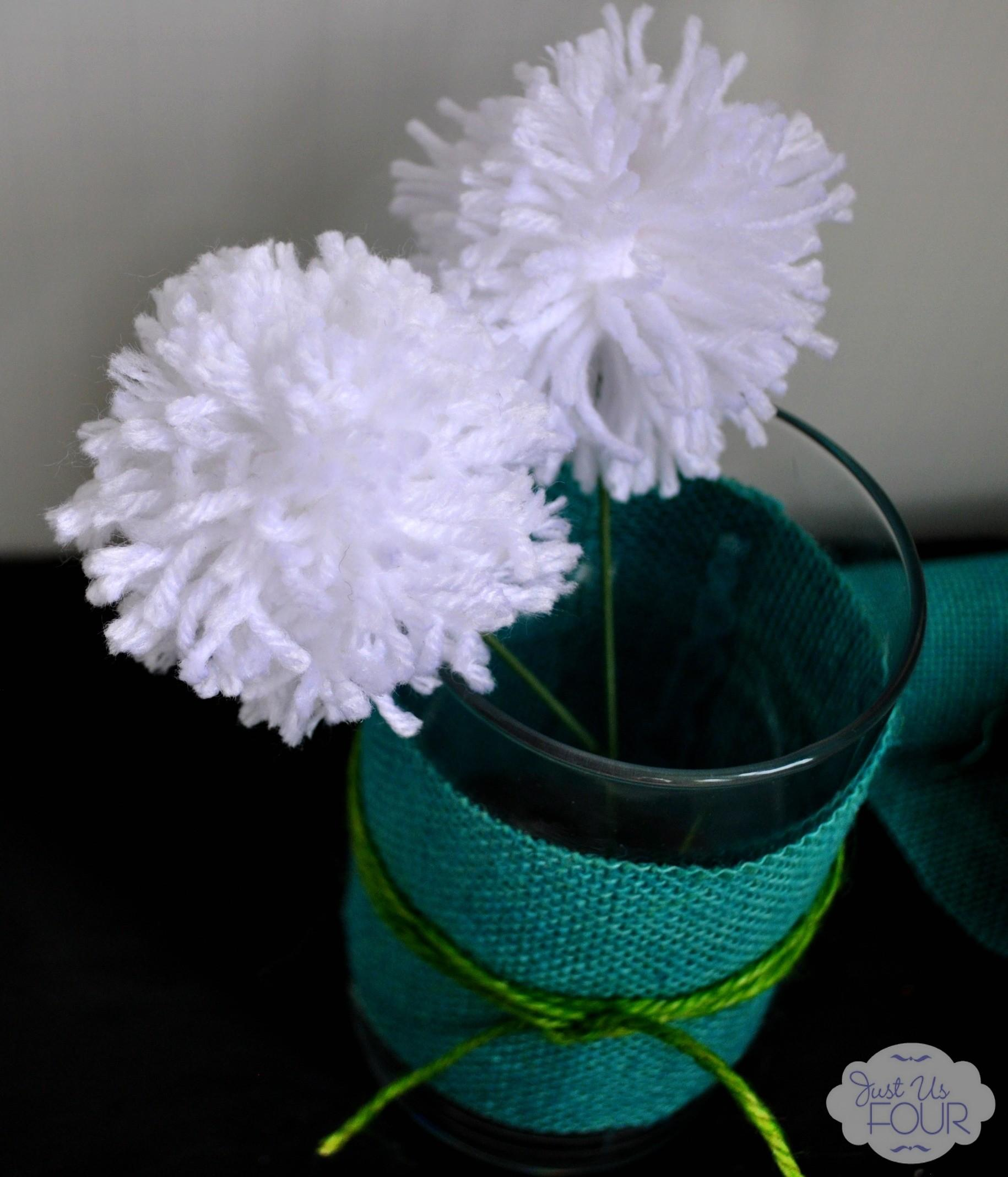 Spring Decorating Ideas Burlap Wrapped Vases Pom