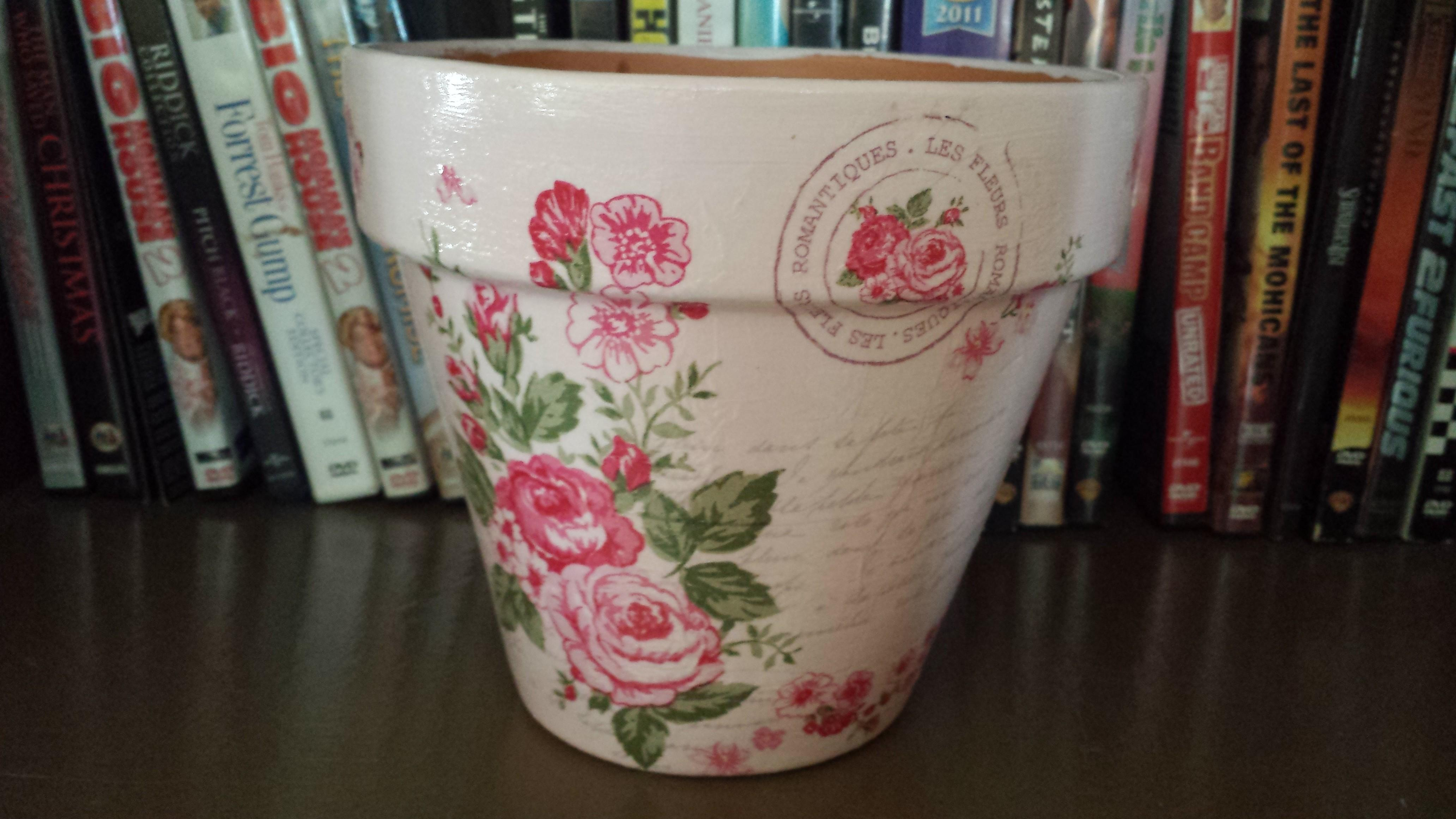Spring Decoupage Flower Pot Designs Usa