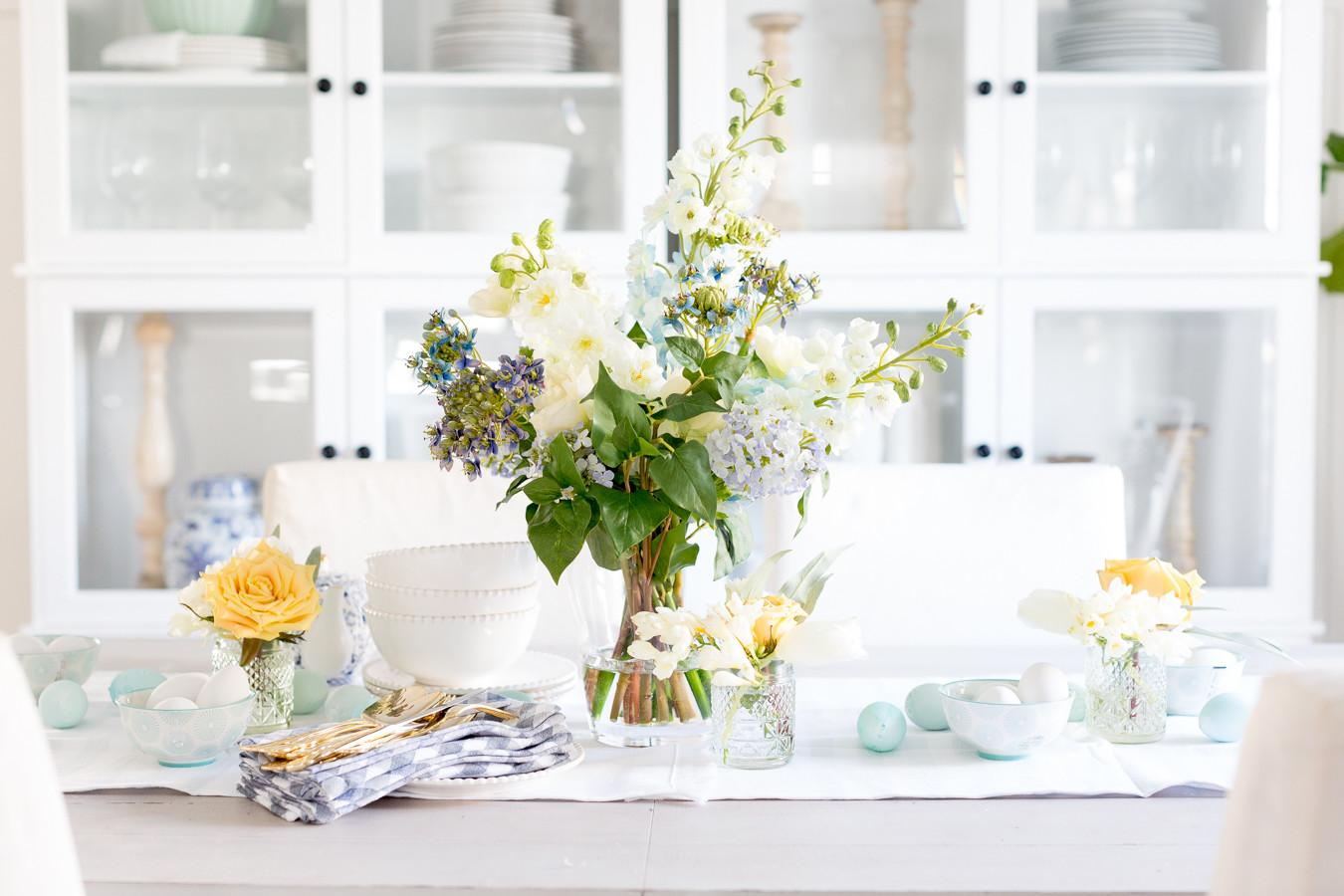 Spring Floral Tablescape Two Ways