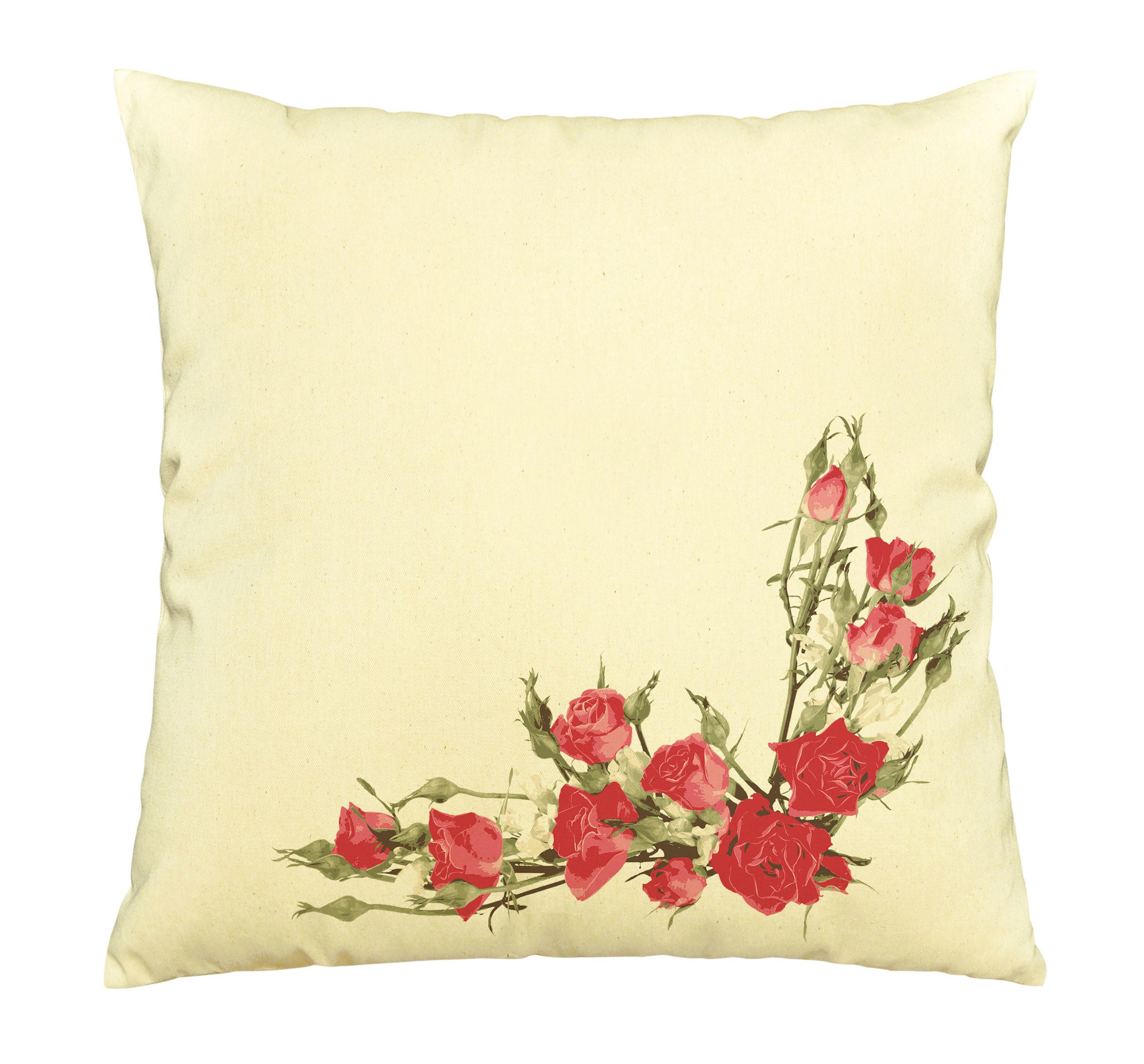 Spring Flower Print Cotton Throw Pillows Cover Cushion