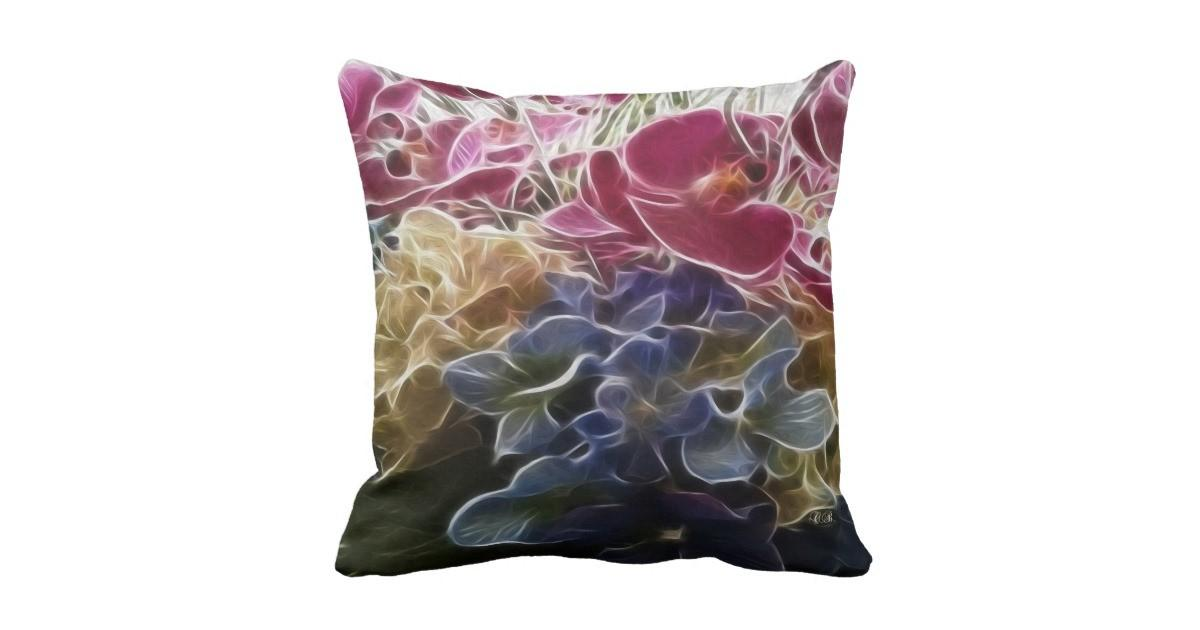 Spring Garden Throw Pillow Zazzle