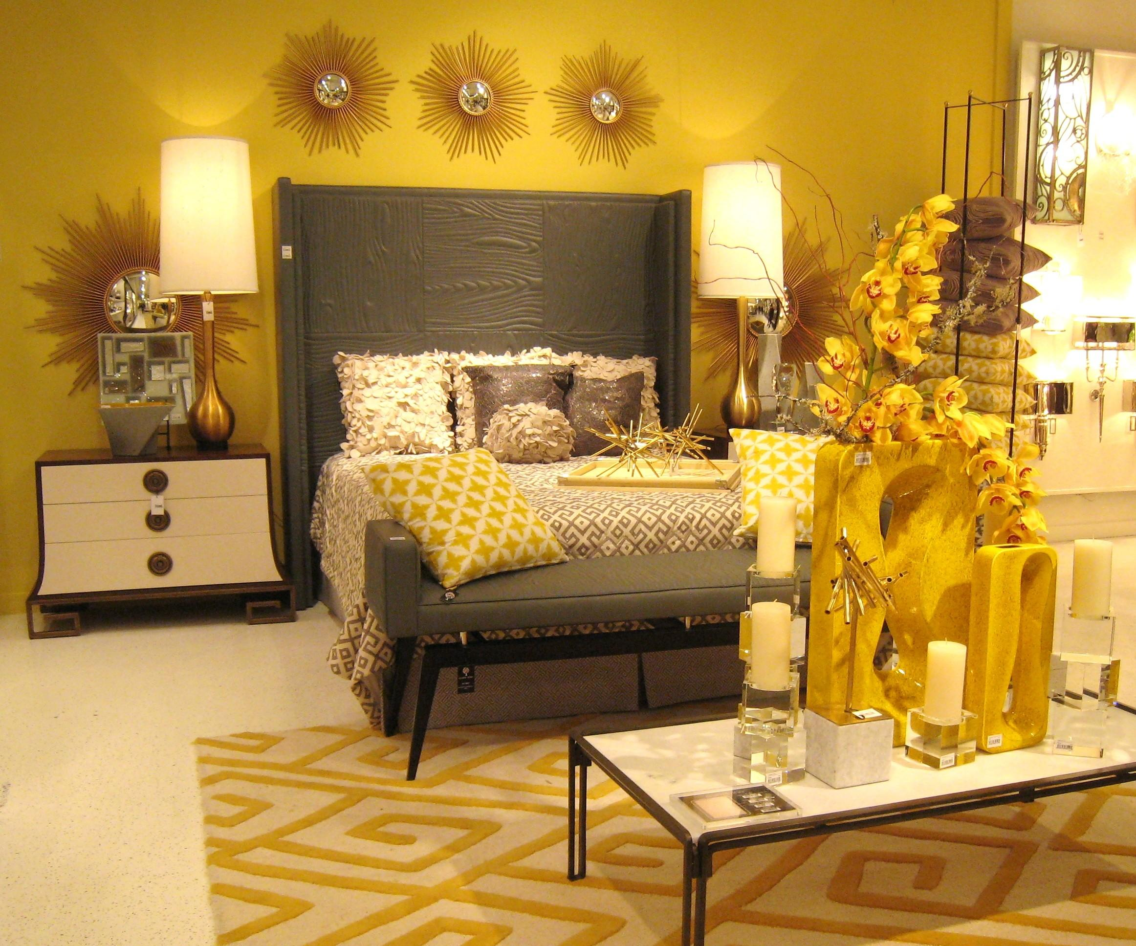 Spring Interior Decorating Yellow Bedroom Design 5918