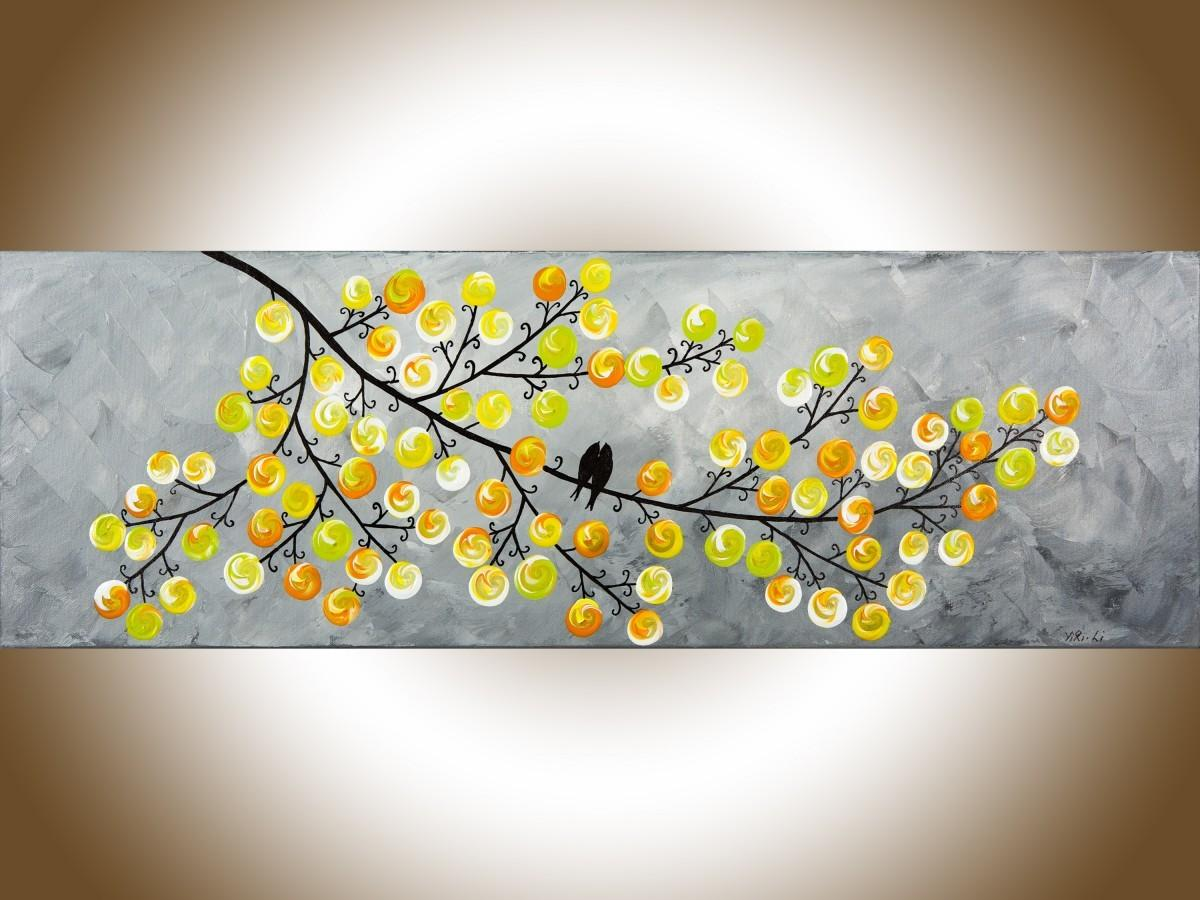 Spring Love Qiqigallery Yellow Grey