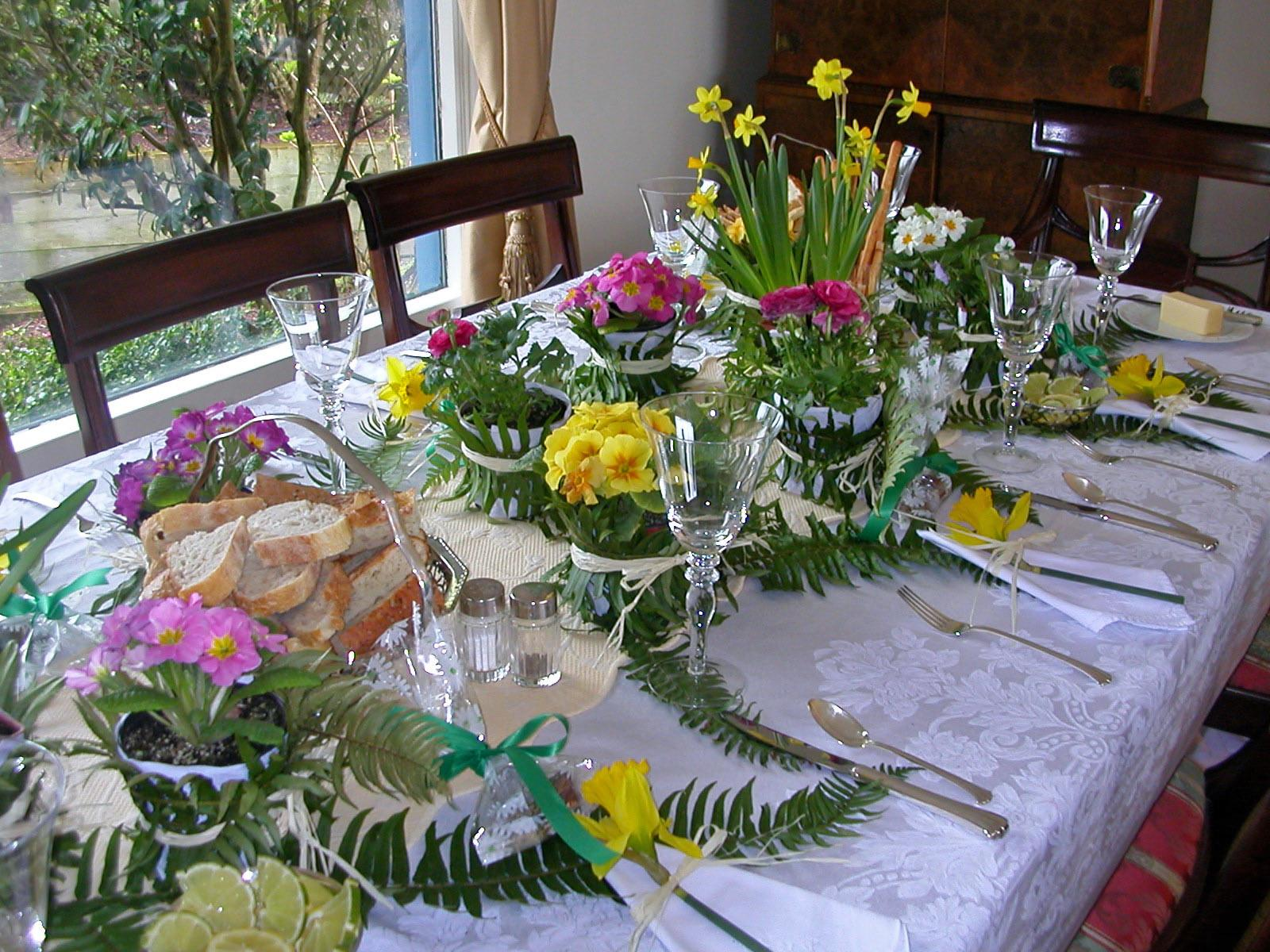 Spring Luncheon Table Decoration Inspired Kitchen