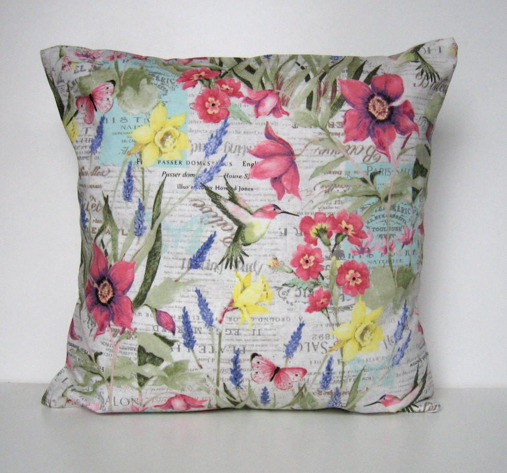 Spring Pillow Cover Floral Throw