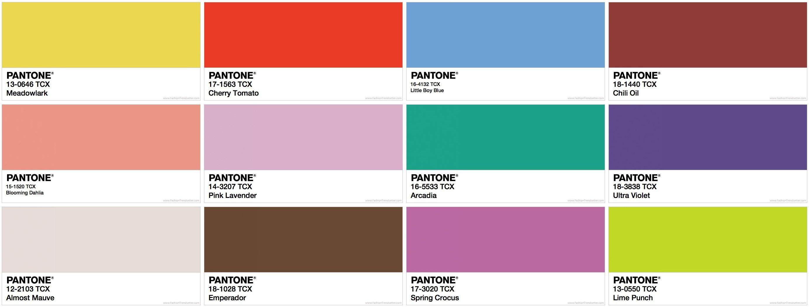 Spring Summer 2018 Pantone New York Fashion Week